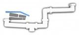 HL27 Abl.verb. DN40x6/4 f. höhenversetzte Doppelspülen