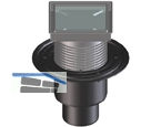 HL310N Bodenabl. DN50/75/110 senkr 132x132mm/112x112mm befliesbar