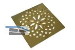 HL3128 Edelstahleinlaufrost Hamam, PVD-beschichtetes Messing, 138x138mm