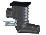 HL600NGHO Regensinkkasten horizontal, Guss, DN110 Zu- und DN110/125 Abgang