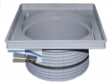 HL608 Aufst.elem. 144mm/d 195mm mm Kst./226x226mm Guss m. Wasser