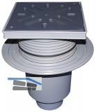 HL616L/1 Perfektabl. DN110 senkr m. Dich tflansch. 240x240mm/226