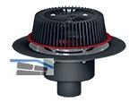 HL62.1Safe/1 Not-Dachablauf DN110 mit Heizung