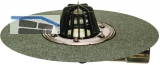 HL80.3H Dachabl. DN50/75 drehb. m. Bitum enmanschette u. Laubfan
